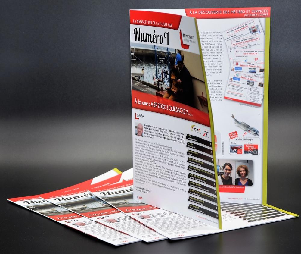 réalisation brochure catalogue magazine en agence de communication morbihan