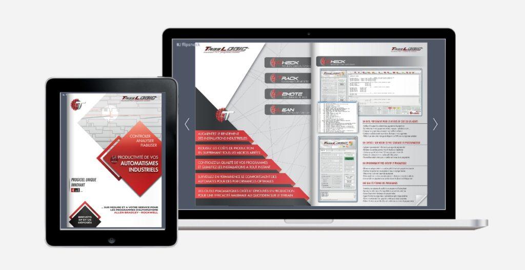 réalisation de brochures digitales - agence de communication : Tlogic